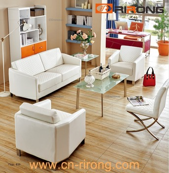 Exceptionnel Classical Living Room Hotel Furniture Sofa Set 1+3+1 White Leather Victorian  Sectional