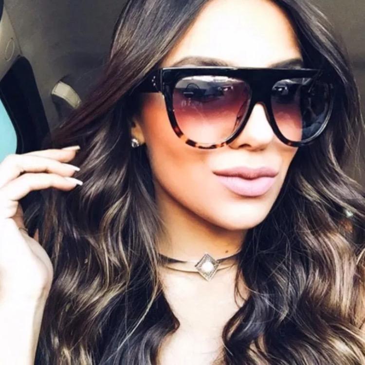 Tortoise Top Kardashian Women Sun Glasses Vintage Flat Brand Eyewear Lunettes Big Shadow Kim Female Retro Sunglasses mvOPN8w0yn