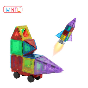 100 PCS + Extra 10 PCS Magna Tiles Learning Tool Magnetic Blocks for Toddlers
