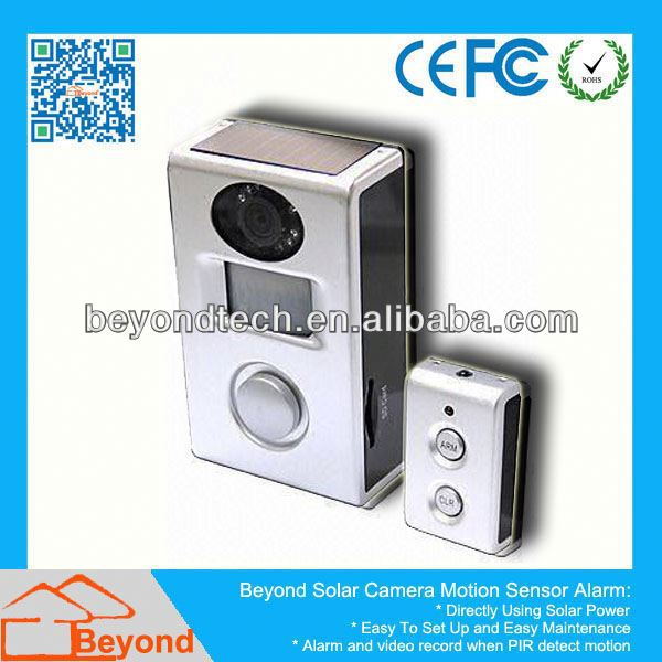 Sms Motion Detector Camera Solar Camera Alarm With Video Record and Solar Panel