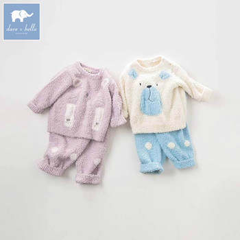 DBW8995 dave bella autumn baby boys long sleeve clothing sets infant toddler top+pants 2 pcs outfits children high quality suits