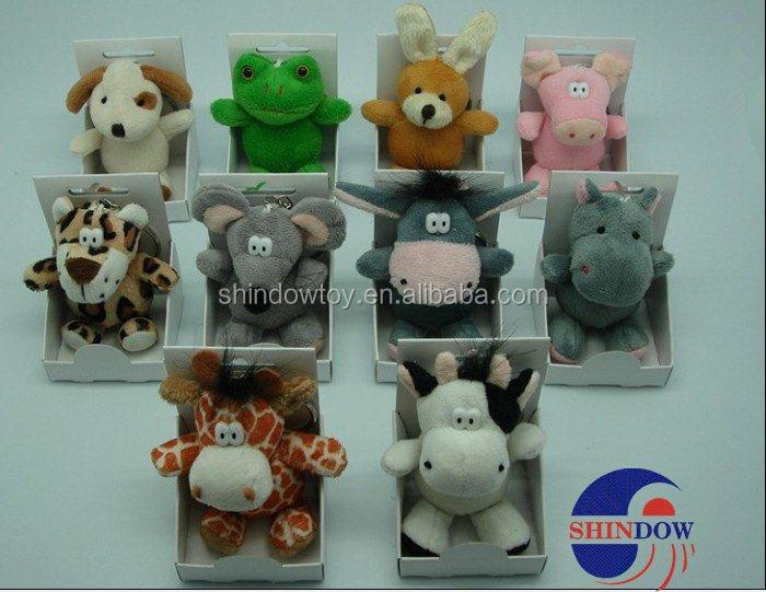 custom plush animal keychain plush animal dolls keychain mini toy keychain