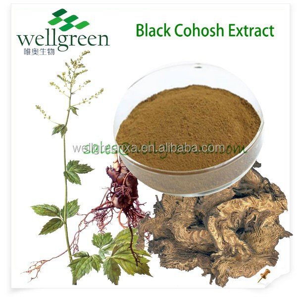 Natural Black Cohosh Extract P.E / Triterpenoides Saponis 3% HPLC / Delay aging of skin and visceral organ
