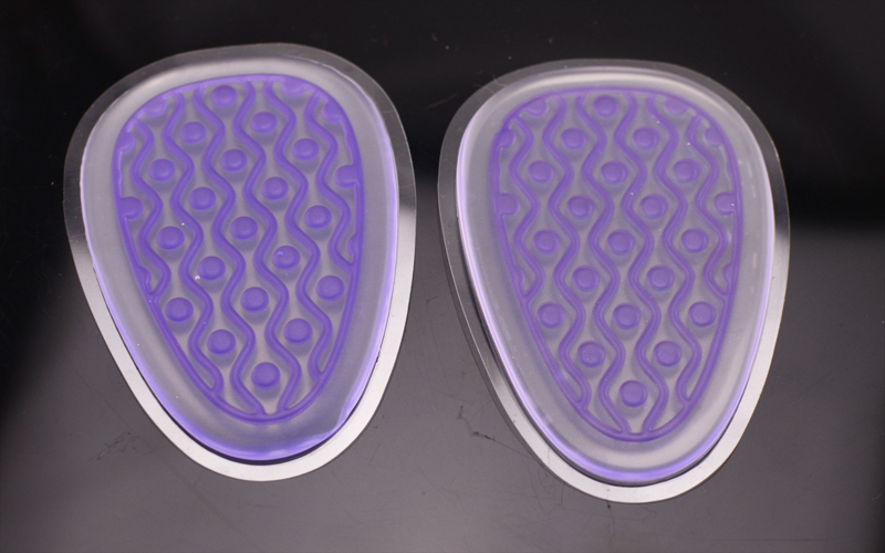 New design gel silicon colorful pu gel forefoot insoles front insole with great price
