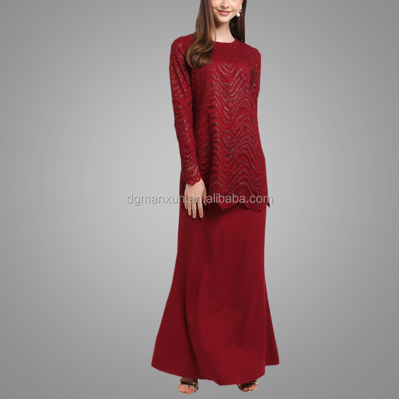 New Fashion Beautiful Sequins Baju Kurung Pakistan Design Modern Muslim Clothes For Ladies Baju Kebaya Abaya