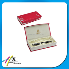 luxury design red paper gift box for pen packaging on sale