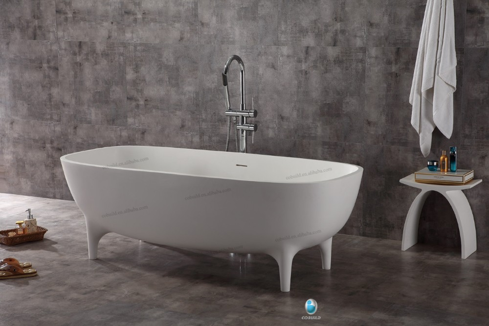 New Invented Bathroom Stand Alone Solid Surface White