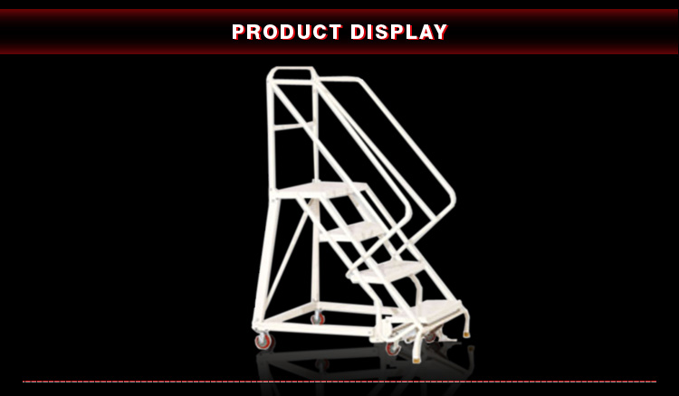 Medium-duty Fold Up Ladders Staal Magazijn Rolling Ladder