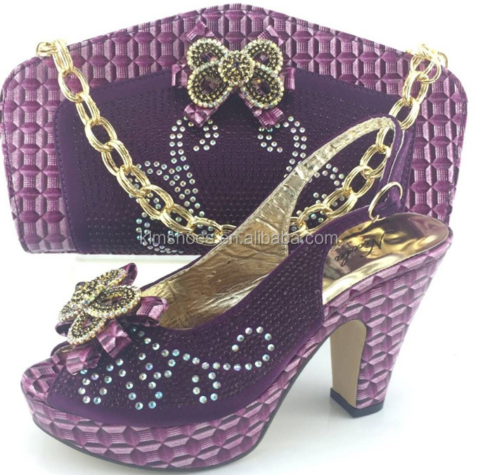 Hot Shoes Match Set ME3313 To Shoes Matching ladies Purple And Bags 2016 And Selling Bags Nigerian Italian Stones With d0wxqwtHT