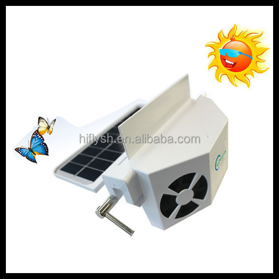 HF-606(4) Hottest auto cool solar car fan,solar ventilator for car heat dissipation