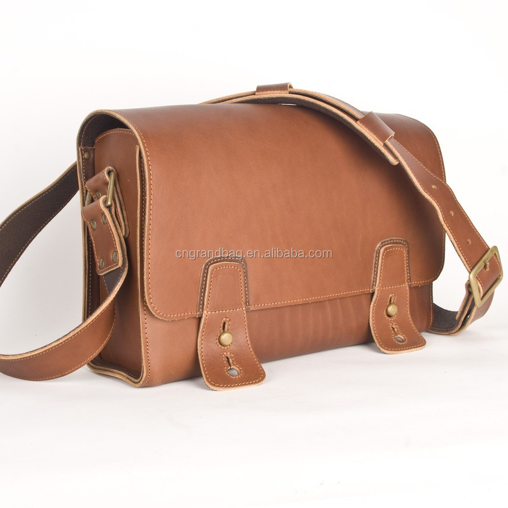 genuine cowhide leather shoulder bag for men vintage post satchel wide back  strap messager bag boys 0dffef6b5b425