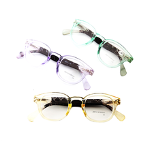 FONHCOO 싼 Custom Made Unisex Purple Green Yellow Frame 플라스틱 독서 Glasses