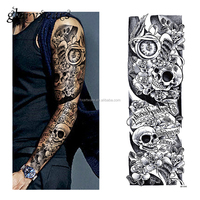 temporary full arm sleeve tattoo stickers long lasting