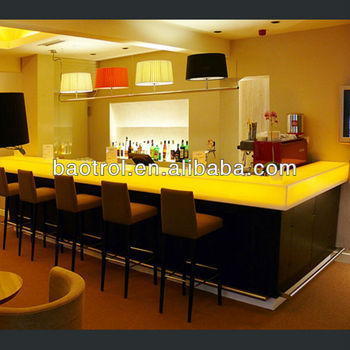 Most Popular Acrylic Solid Surface Bar Top With Led Light,bar Counter With  Led Light