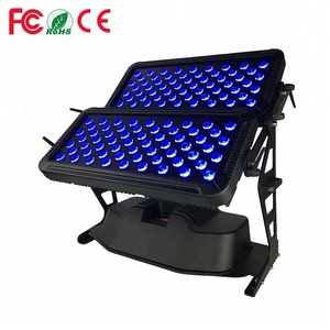 Christmas Stage Show Outdoor Waterproof 120*10w Led Wall Washers 120pcs 8w 10w 12watt RGBW 4IN1 Led City Colour Light