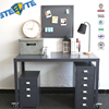 Top End Executive Office Work Table Metal Movable Computer Desk Whit Wheels Design