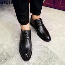 Деловая обувь; мужские оксфорды; кожаные оксфорды; мужские деловые туфли; элегантные туфли для мужчин; свадебные модельные туфли; модель 2019 ...(Китай)