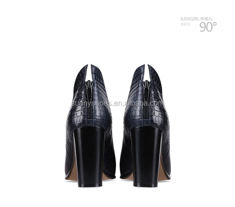fashionable wholesale ladies heels shoe pumps high sexy girls china leather genuine chunky 2017 xgFTHx