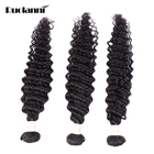 Factory Price Loose Deep Curly Body Wave Weft 100 Natural Peruvian Human Hair Weave Bundles Hair Extensions