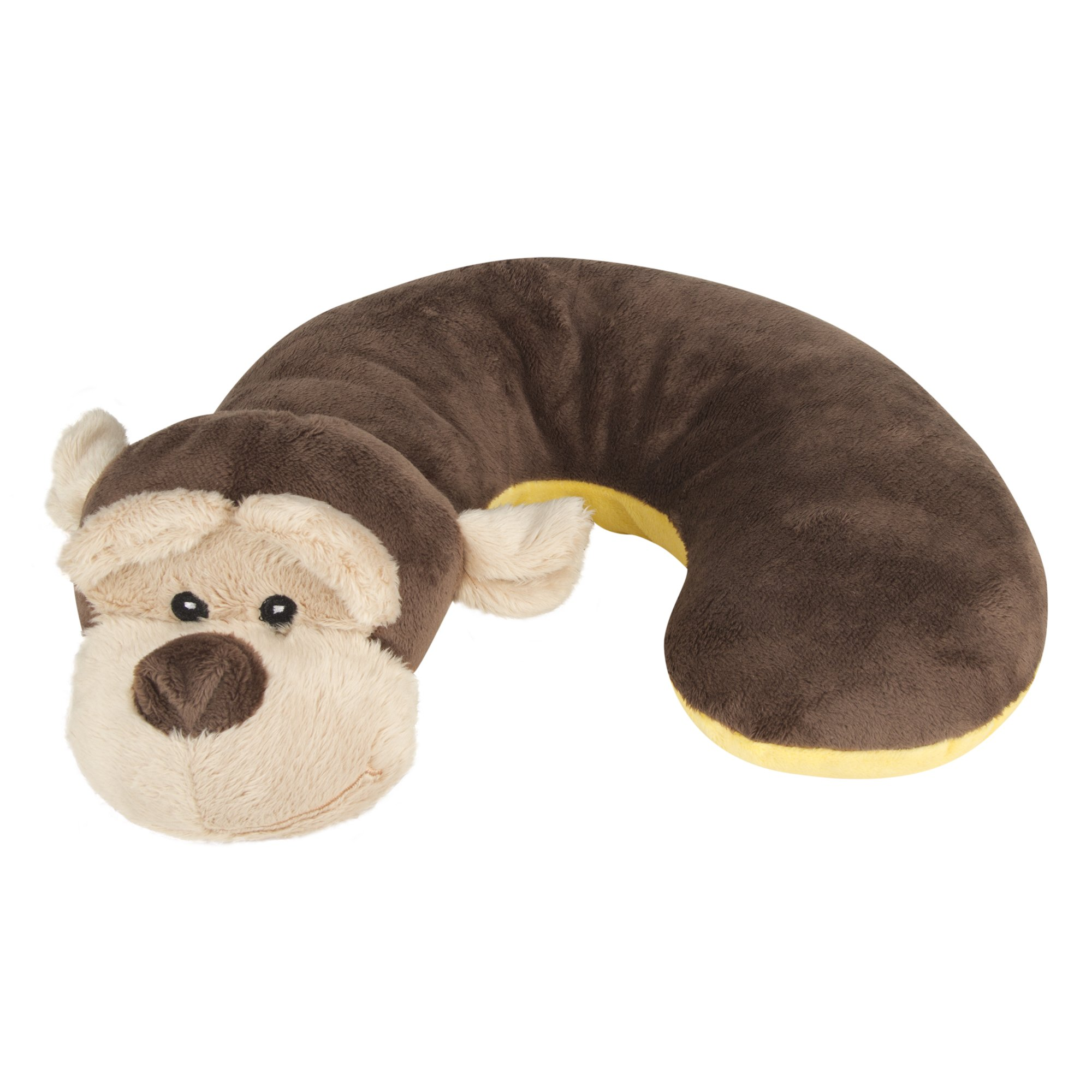 Animal Planet Travel Pillow for kids, Kids Travel Pillow, Neck Support Pillow, Pillow for kids, Toddler Car Seat Pillow, Baby Head Support, Child Travel, Kids Neck Pillow, Monkey, Brown