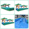 Tropical inflatable slip and slide with pool for summer event