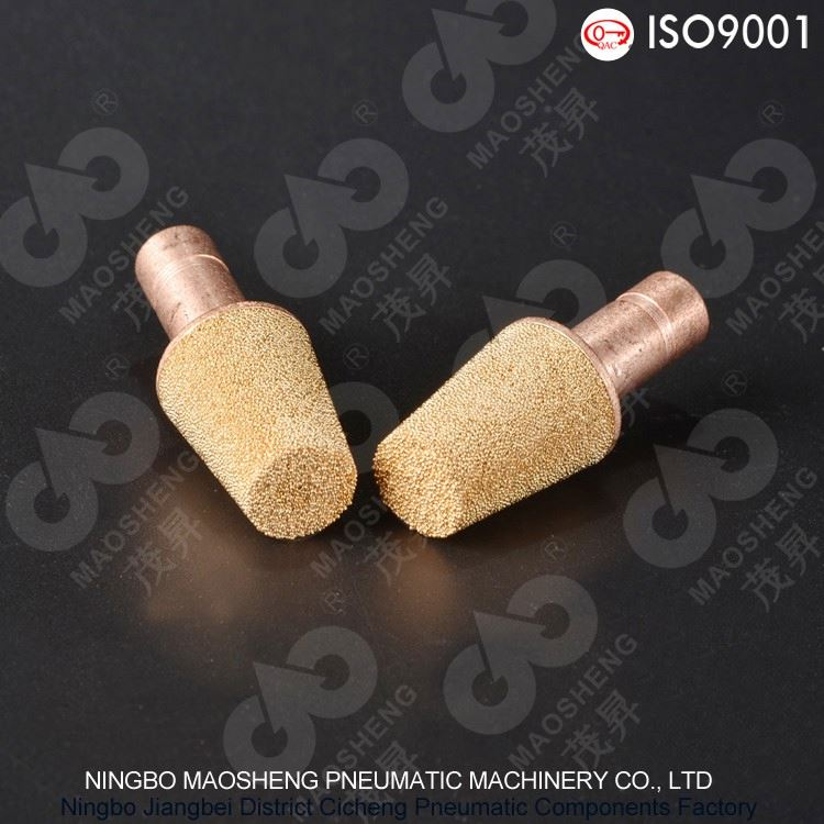 CR Type Inserting pneumatic component silencers Electrical equipment exhaust Brass silencer muffler