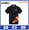 Customized 100% cotton printed black polo t-shirt with orange pattern