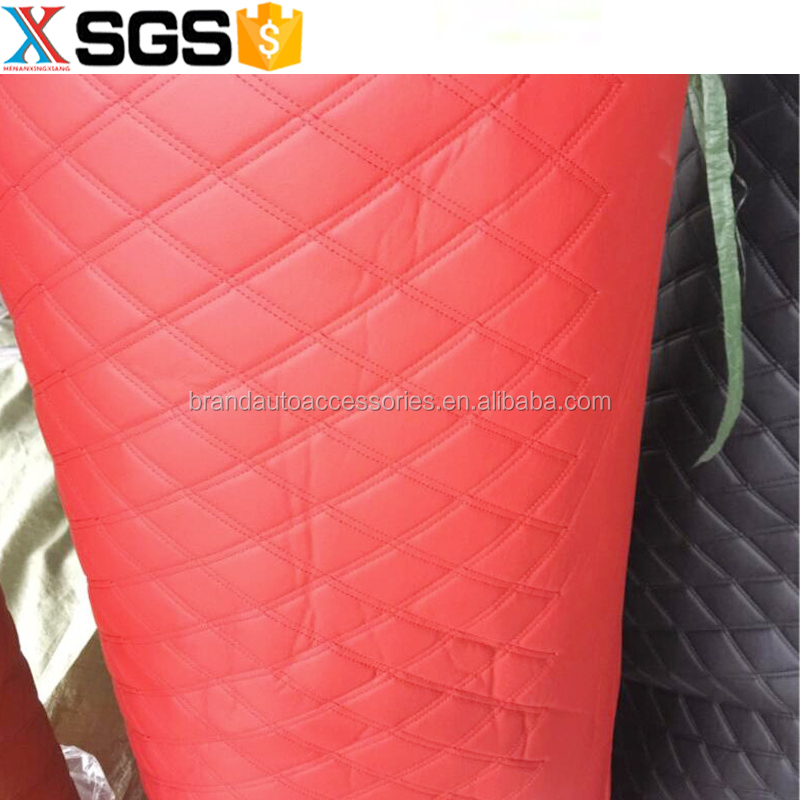 custom tailor high quality pu leather car floor mat material roll red 5d 3d car floor mats seat cover