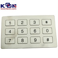Keypad, side mounted with large number buttons only and includes connectors with cable KA5