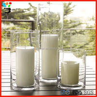 Coastal,Beach, Church Decor Display 3 Size Available Glass Pillar Candle Holder