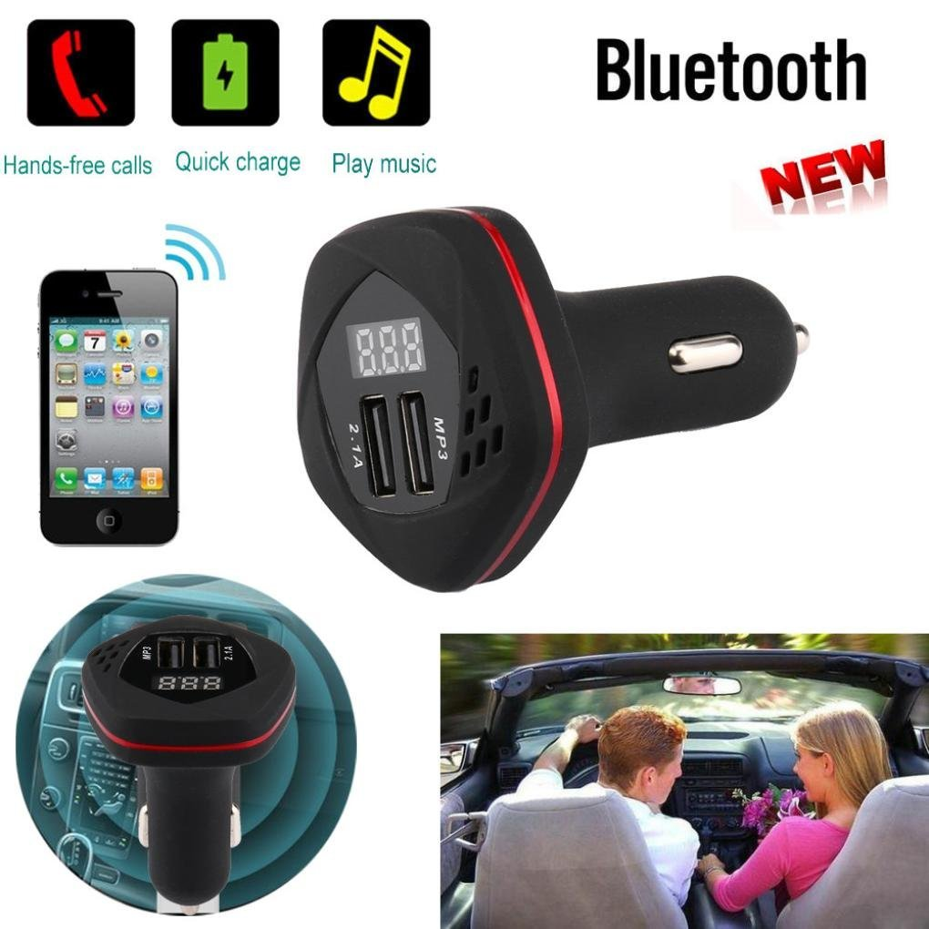 Get Quotations · Creazy 2017 Bluetooth Car Kit MP3 Player FM Transmitter  Wireless Radio Adapter USB Charger