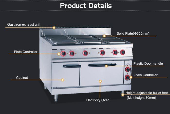 Commercial Restaurant Kitchen Equipment Electric Range