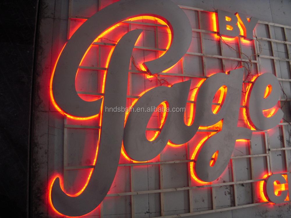 high quality large led backlit letter sign led letter box sign led letter lights sign