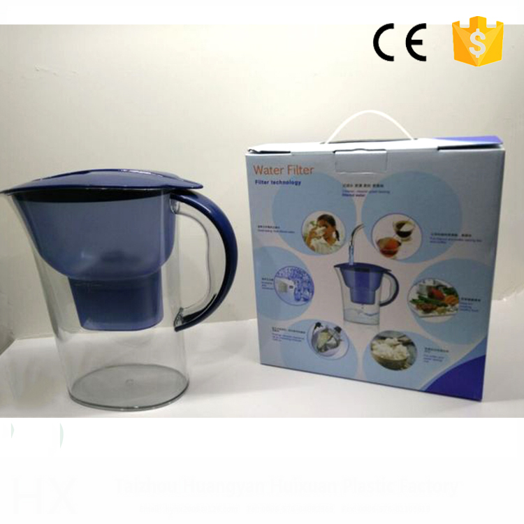 wholesale from China water jug with activated carbon plastic flouride remove water filter jug