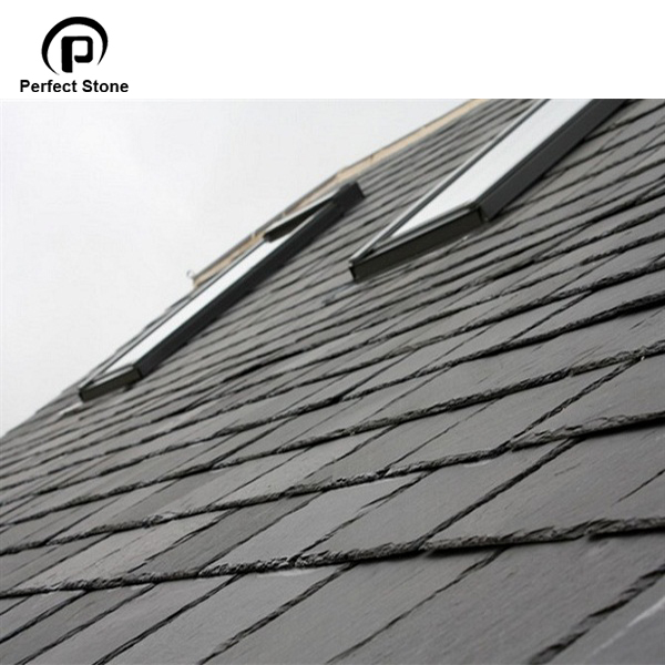 Natural stone black slate tiles for cheap price slate roofing