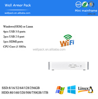 WAP Fanless high quality small volume mini pc