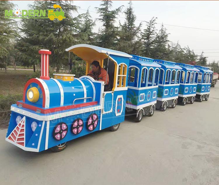 Top quality cheap amusement park garden trackless party electric train