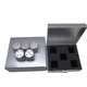 Silver Color 5 in 1 Aluminum Alloy Solid Metal Table Board Game Portable Dice Dice Set