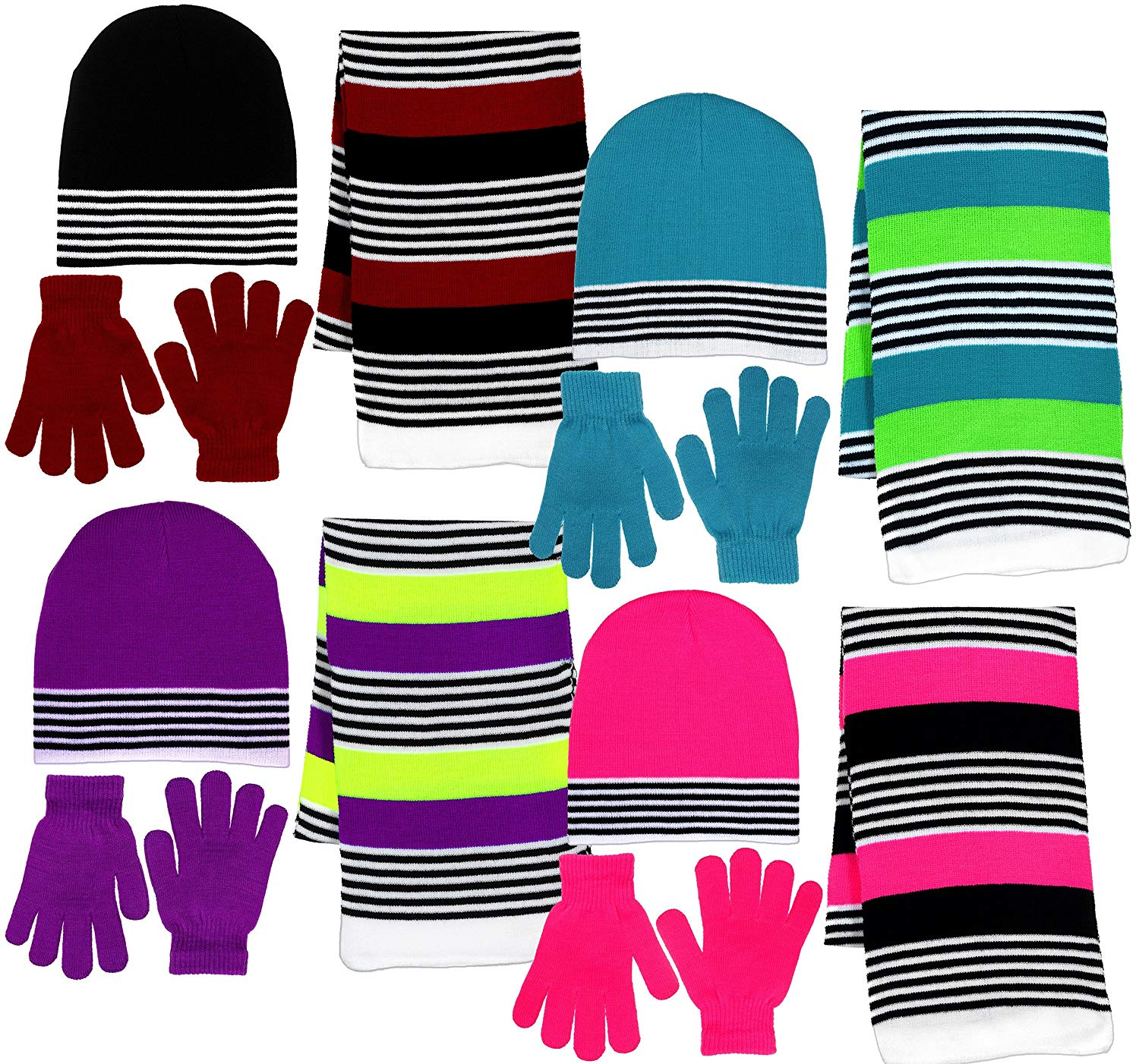 Get Quotations · Girls 3 Piece Knit Hat 27c74f0786a2