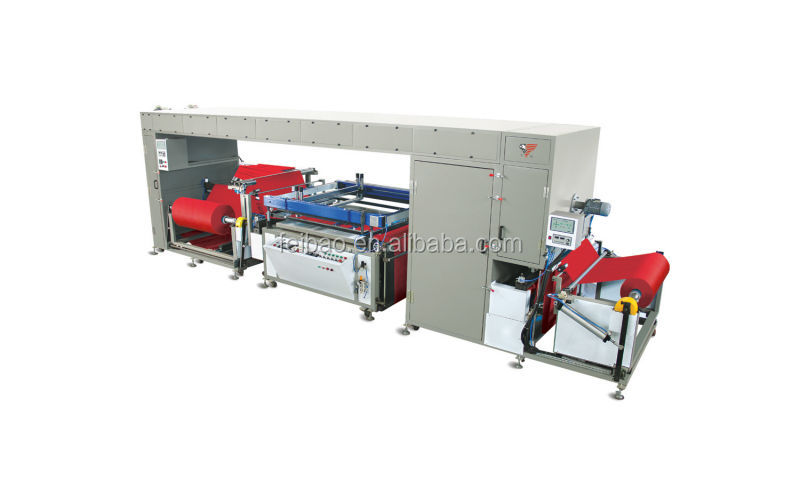 Automatic roll to roll Non-Woven fabric screen printing machineNWF12010w