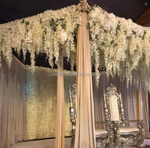 high quality white long silk artificial wisteria flower for wedding decoration