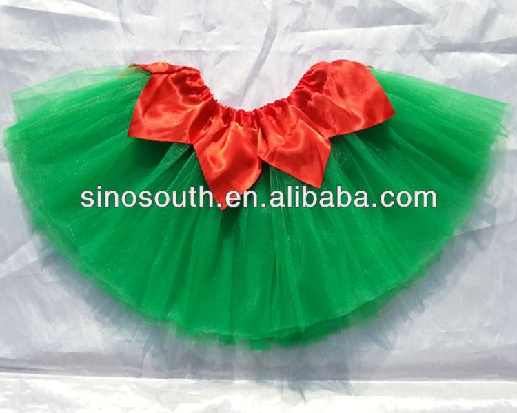 9d32f783e 2014 Nuevo Estilo Niños Rojo Pétalo Falda Verde Luciendo Tutús Navidad Falda  - Buy Navidad Tutu Falda