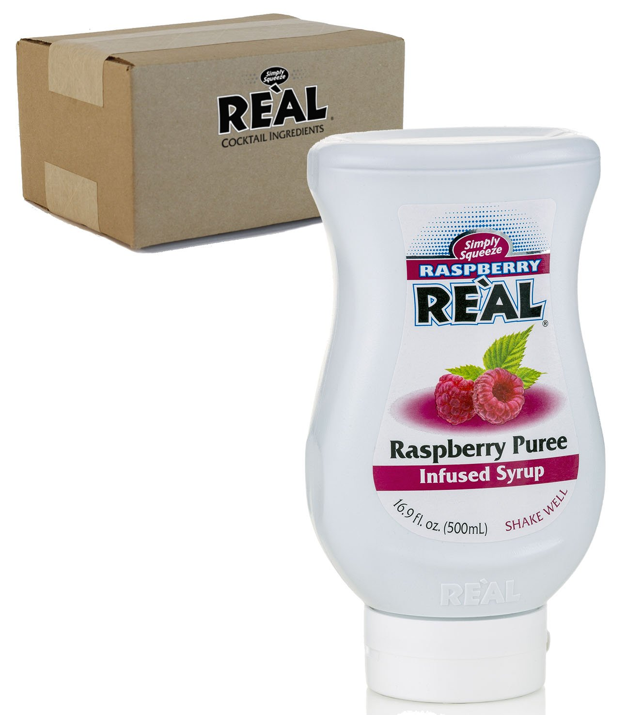Raspberry Reàl, Raspberry Puree Infused Syrup, 16.9 FL OZ Squeezable Bottle (Pack of 1)