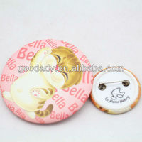 Lovely cat promotional tinplate custom logo pins and buttons