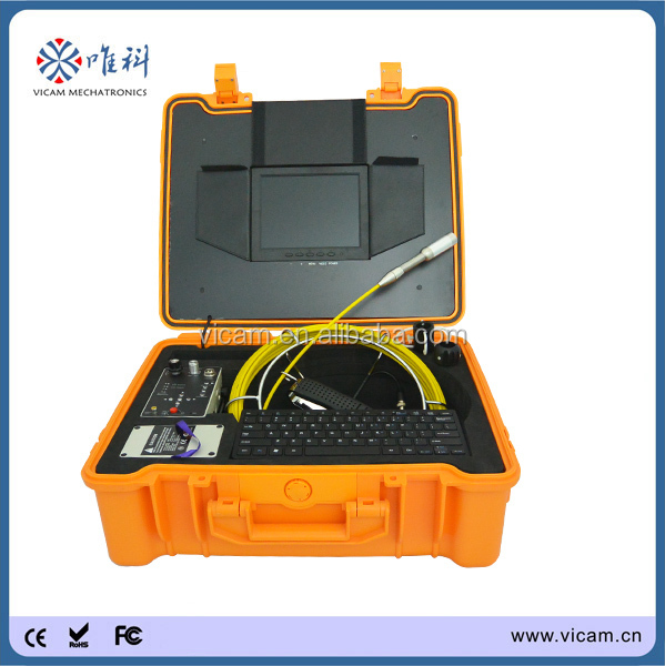 512Hz transmitter flexible digital video analog camcorder durable industrial pipe inspection camera for underwater wells