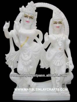 White Statues Idol Marble Radha Krishna Stone Statue Radha Krishna
