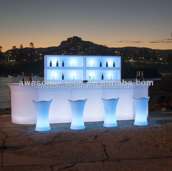 General Use Portable Led Outdoor Bar Counter Lighting Furniture Light Up