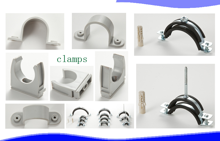 New plastic fitting saddle double pvc inch pipe repair