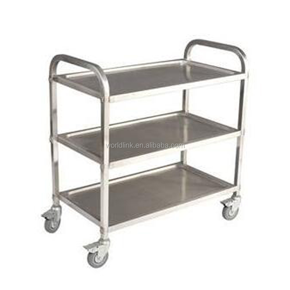Hotel Restaurant Stainless Steel Equipment Service Cart