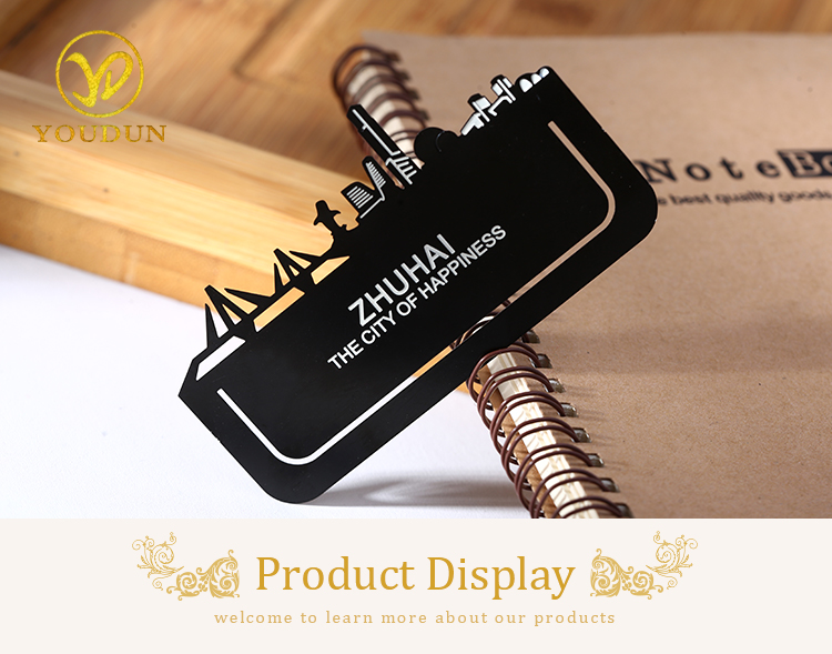 High quality custom diy metal stainless steel printing bookmark